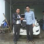 Foto Penyerahan Unit 11 Sales Marketing Mobil Dealer Datsun Probolinggo Novan