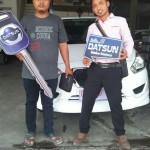 Foto Penyerahan Unit 6 Sales Marketing Mobil Dealer Datsun Tegal Heri