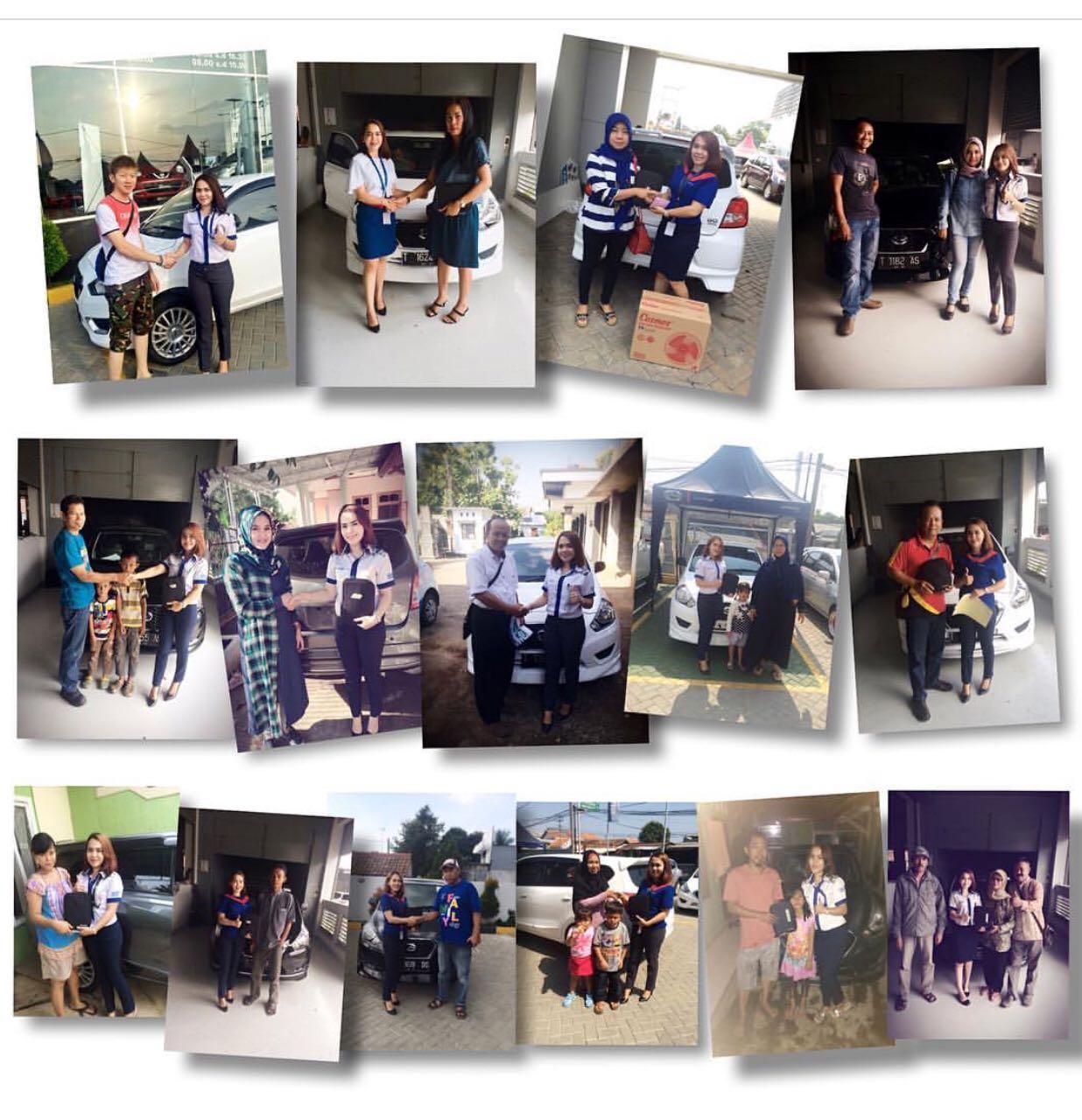 Foto Penyerahan Unit Gabungan Sales Marketing Mobil Dealer Datsun Idah