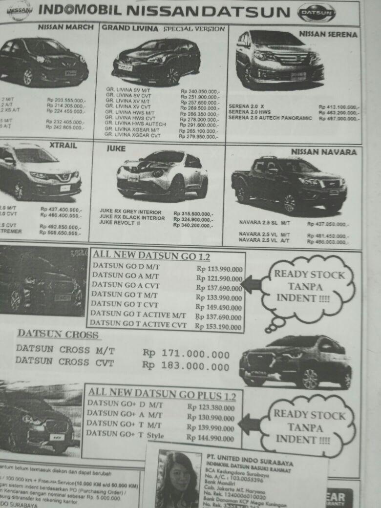 Harga Mobil Datsun By Siti