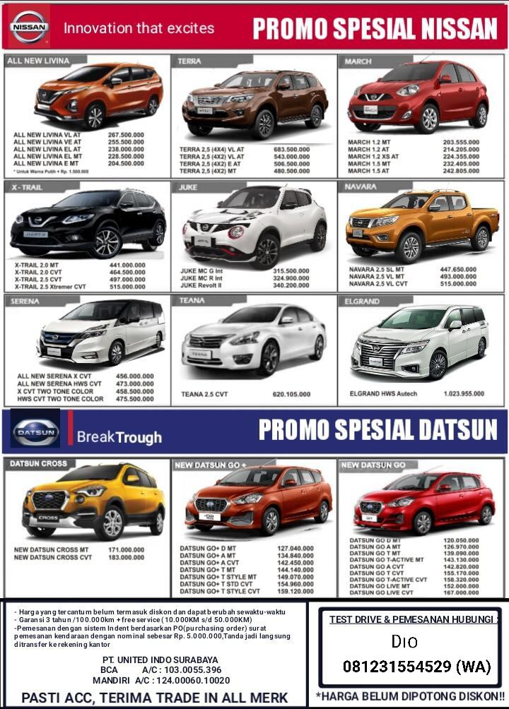 Harga Mobil Datsun By Dio
